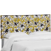 Craig Queen Linen Headboard in Ochre