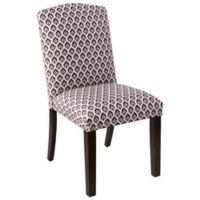 Skyline Furniture Linen Upholstered Dining Chair in Purple