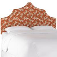 Diane Queen Linen Headboard in Orange