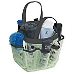 Mesh Shower Tote in Mint/Black
