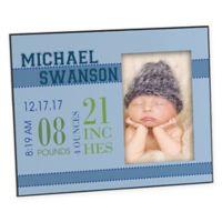 Baby's Big Day 4-Inch x 6-Inch Picture Frame in Blue