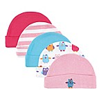 Luvable Friends® Size 0-6M 5-Pack Little Owl Caps in Pink