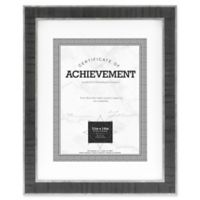 Eastonian 8.5-Inch x 11-Inch Wood Matted Wall Frame in Black with Silver