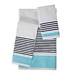 KAS Seneca Fingertip Towel in Aqua