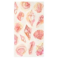 Design Design Inc. 15-Count Pink Shells Paper Guest Towels