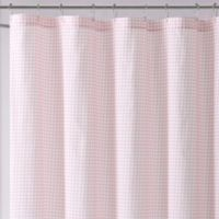 Laura Hart Kids Gingham Shower Curtain in Pink