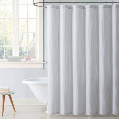 Laura Hart Kids Stripe Shower Curtain In Grey