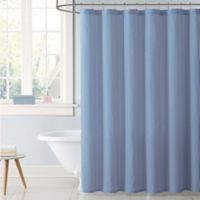 My World Stripe Shower Curtain in Blue