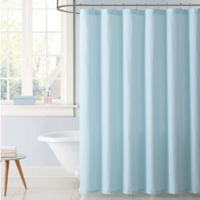 My World Stripe Shower Curtain in Aqua