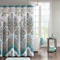 Intelligent Design Kylie Shower Curtain in Teal
