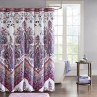 Intelligent Design Kylie Shower Curtain in Purple