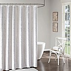 Intelligent Design Adele Shower Curtain in White/Silver