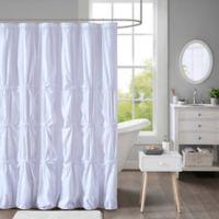 Intelligent Design Benny Shower Curtain in White