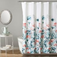 Triangle Home Flora Shower Curtain in Blue