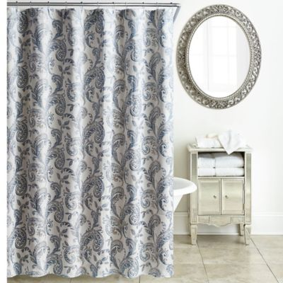 Waterford Florence Shower Curtain In Blue