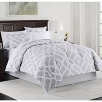 Kiley Twin XL Comforter Set in Grey
