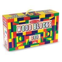 Melissa & Doug® 200-Piece Wood Blocks