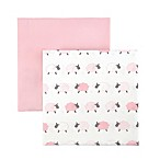 Tadpoles Counting Sheep Fitted Crib Sheets in Pink (Set of 2)