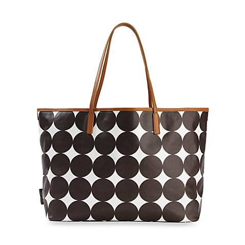 dwell studio madison tote bag chocolate dots buybuy baby