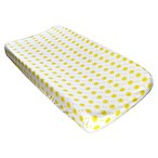 Hello Spud Organic Cotton Happy Sun Changing Pad Cover in Yellow