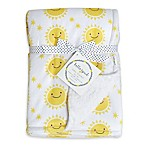 Hello Spud Sun Plush Baby Blanket in Yellow