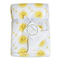 Hello Spud Sun Plush Baby Blanket in Yellow