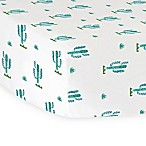 Hello Spud Cactus Organic Cotton Jersey Fitted Crib Sheet
