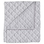 Hello Spud Diamond Stonwash Quilt in Grey