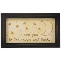 "Primitives by Kathy® ""Love You to the Moon and Back"" Framed Stitchery Wall Art"