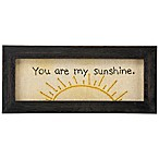 "Primitives by Kathy® ""You Are My Sunshine"" Framed Stitchery Wall Art"
