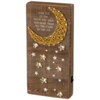 """Primitives by Kathy® """"Love You to The Moon and Back"""" LED String Art"""