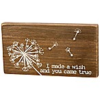 "Primitives by Kathy® ""I Made a Wish"" Stitched Wood Block Wall Art"