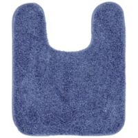 "Mohawk Home 20"" x 24"" Envision Studio Contour Bath Rug in Blue"