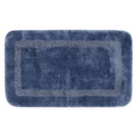 """Mohawk Home Facet 34"""" x 20"""" Bath Mat in French Blue"""