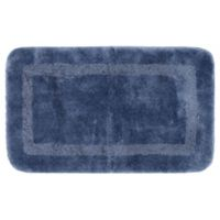 """Mohawk Home Facet 40"""" x 24"""" Bath Mat in French Blue"""