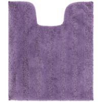 Mohawk Home Basic Stripe Contour Bath Matt in Purple
