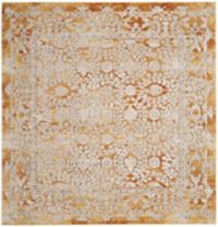 Safavieh Palermo Madrid 6-Foot 7-Inch Square Area Rug in Gold