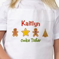 Lil' Christmas Baker Kid's Apron in White/Pink