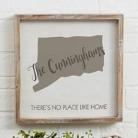 State Pride 12-Inch Square Barnwood Frame Wall Art