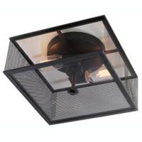 Safavieh Hagan 2-Light Flush Mount Ceiling Light in Black