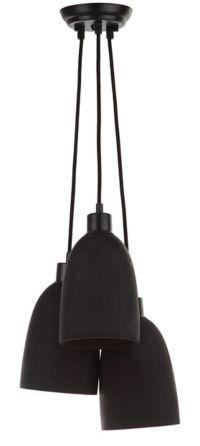 Safavieh Tres Shade 3-Light Pendant Light in Black