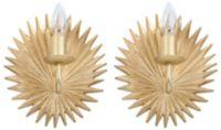 Safavieh Abelie 1-Light Wall Sconces in Gold (Set of 2)