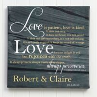 """""""Love Is Patient"""" Canvas Wall Art"""