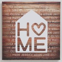 Home Is Love Canvas Wall Art