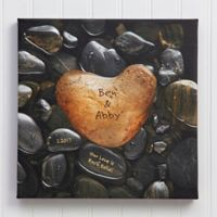 Heart Rock Canvas Wall Art
