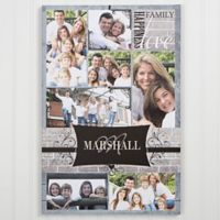 Family Photo Memories Canvas Wall Art