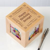 Birthday Memories 4-Photo 2.5-Inch x 2.5-Inch Photo Cube
