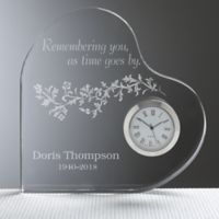 Remembering You Engraved Heart Clock