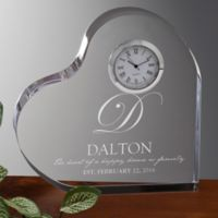 The Heart Of Our Home Engraved Heart Clock