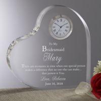 To My Bridesmaid Heart Clock